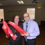 Celebrating with Linda Mitchelson, City of Ptbo and Mark Graham, CMHA