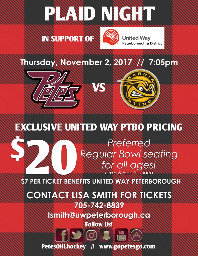 United Way Plaid Night-Flyer