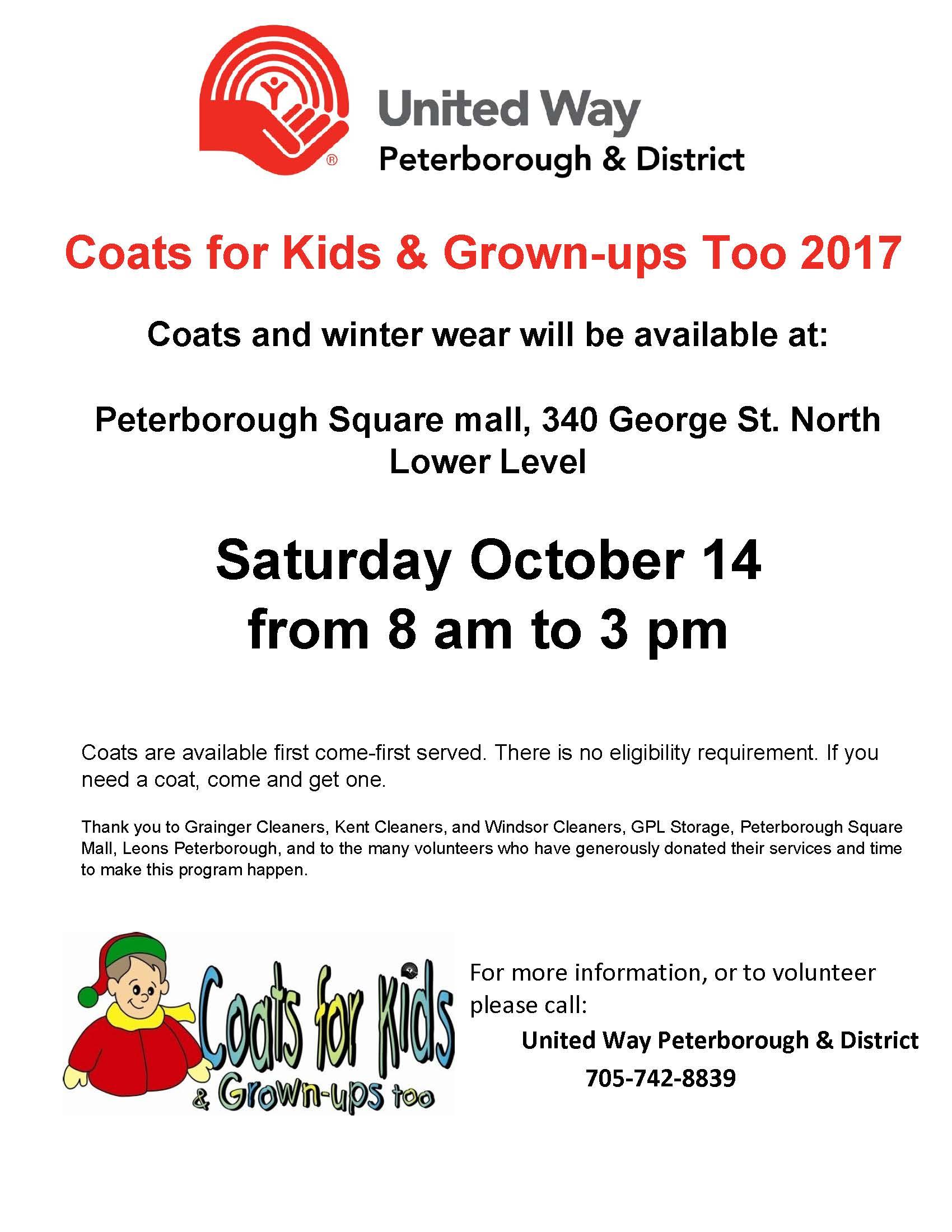d468e48dec47 Coats for Kids   Grown-ups Too 2017 - United Way Peterborough