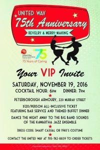 75th Anniversary Invitation