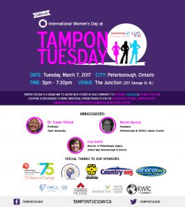 Join us for Tampon Tuesday at the Junction on March 7th